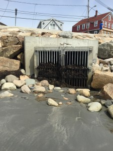 This storm drain at Long Sands beach in York is one of several along the beach.